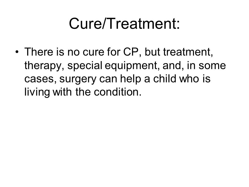 Cure/Treatment: