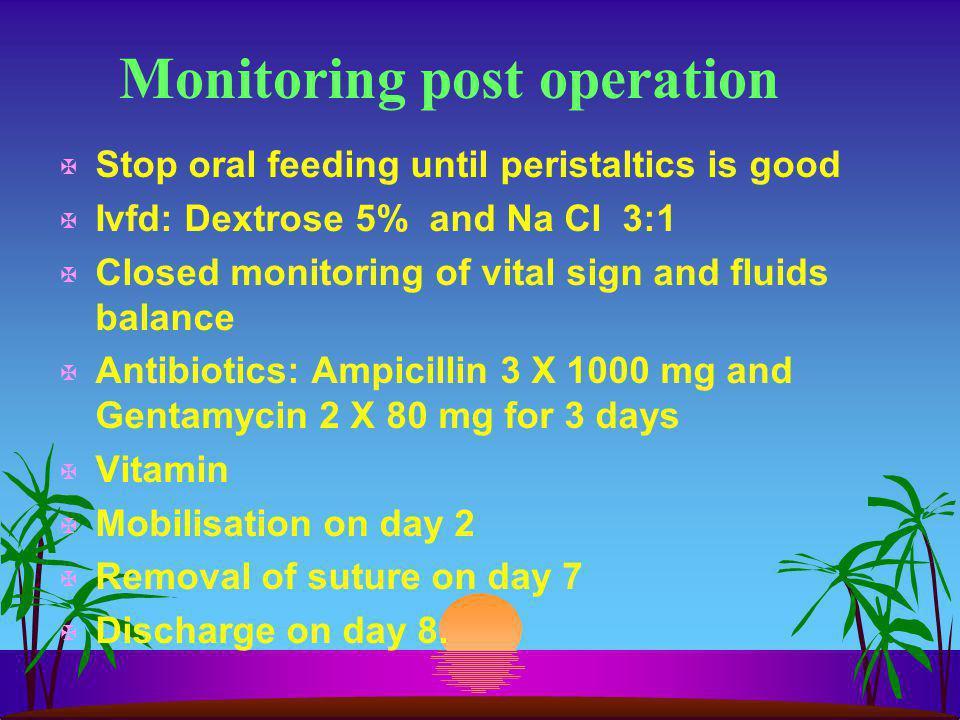 Monitoring post operation