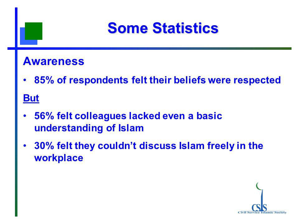The survey Early in 2006 the CSIS surveyed 101 Muslim civil servants