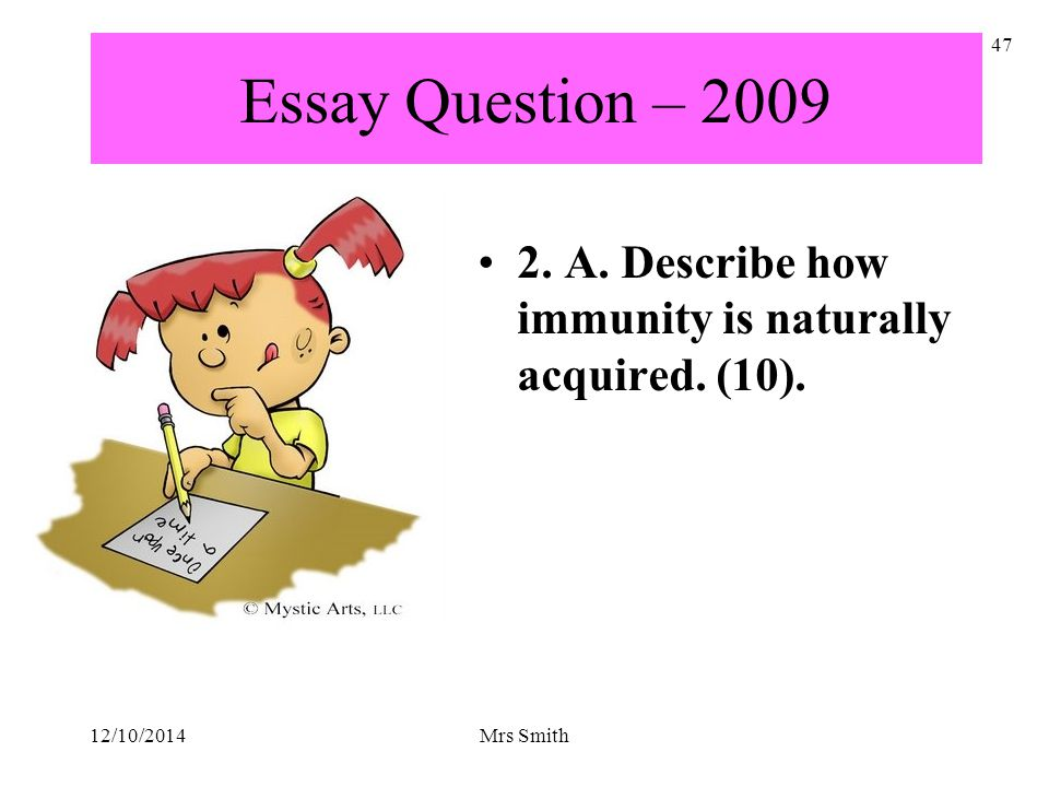 essay questions on immunity Parliamentary immunity essay parliamentary immunity is the privilege of legislators to be free from partial prosecution while they are in office either legislative action or a superior court ruling can usually revoke this pr ivilege.
