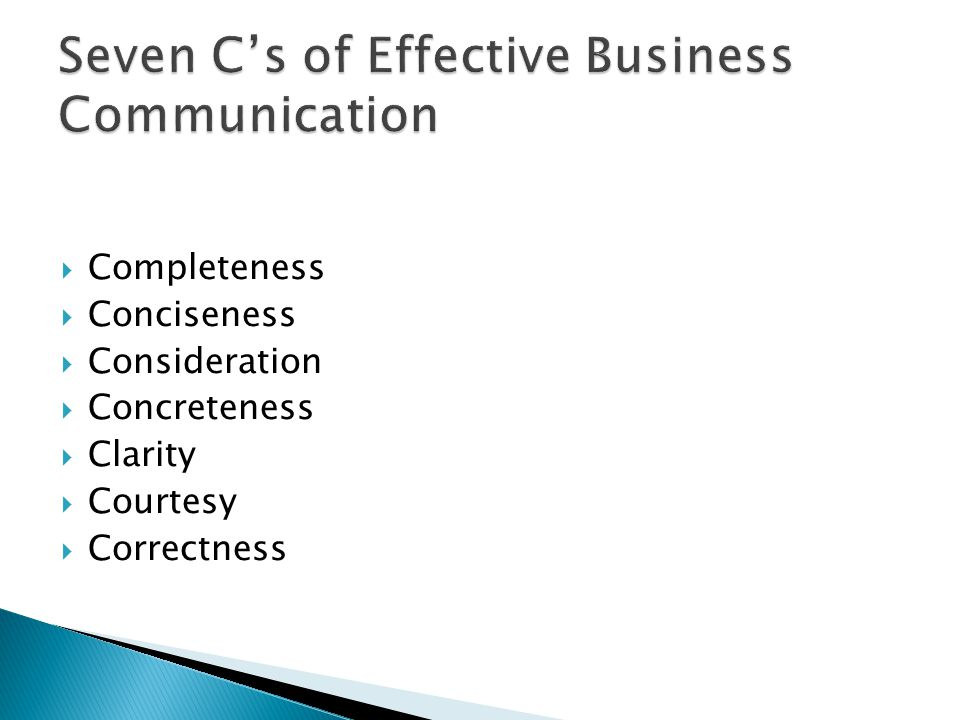Seven C's of Effective Business Communication