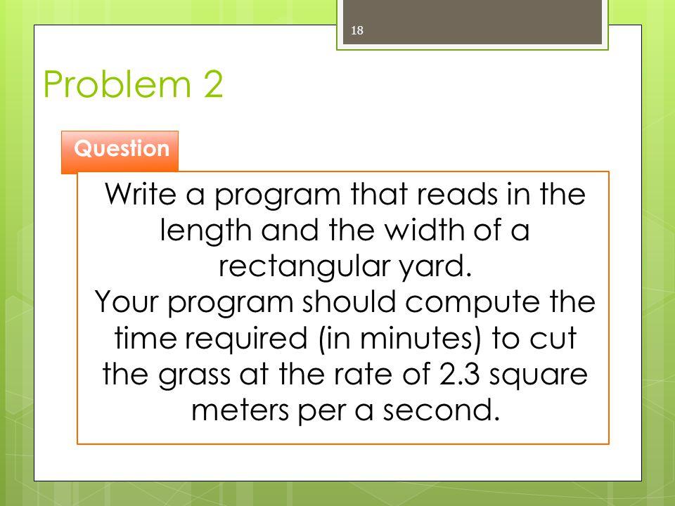 Problem 2 Question.
