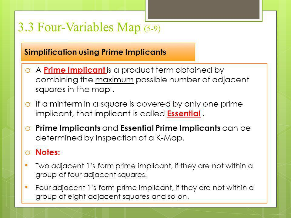 3.3 Four-Variables Map (5-9)