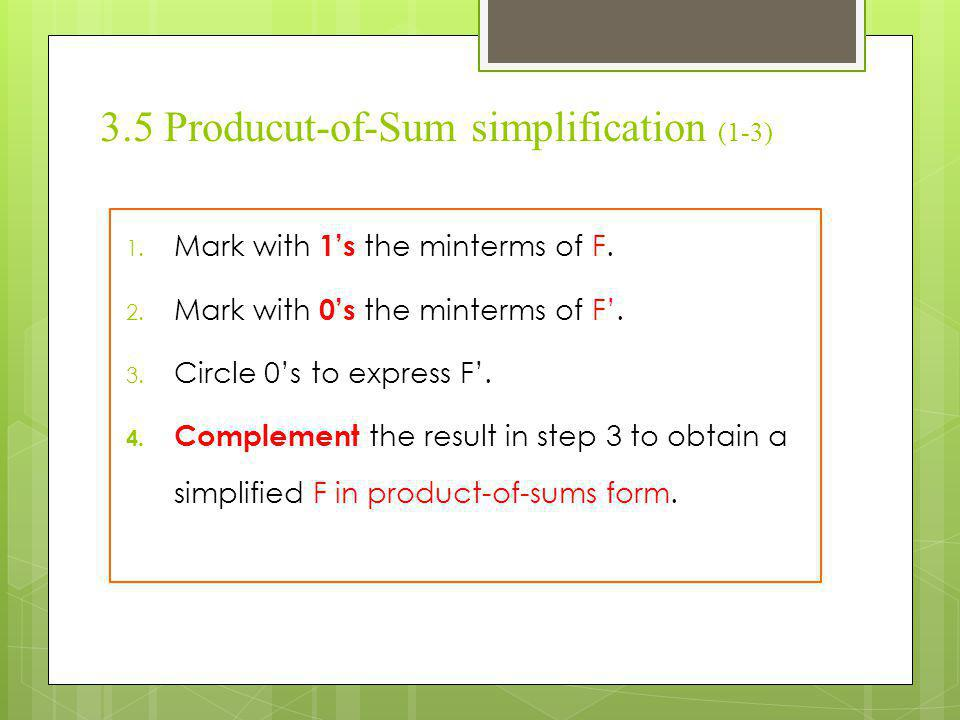 3.5 Producut-of-Sum simplification (1-3)
