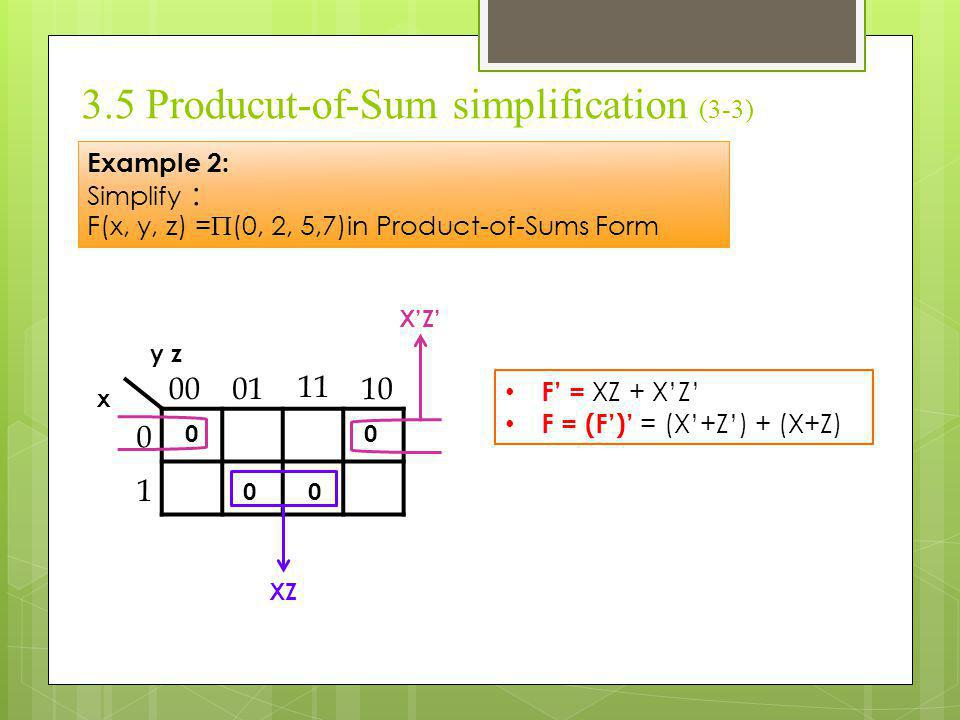 3.5 Producut-of-Sum simplification (3-3)