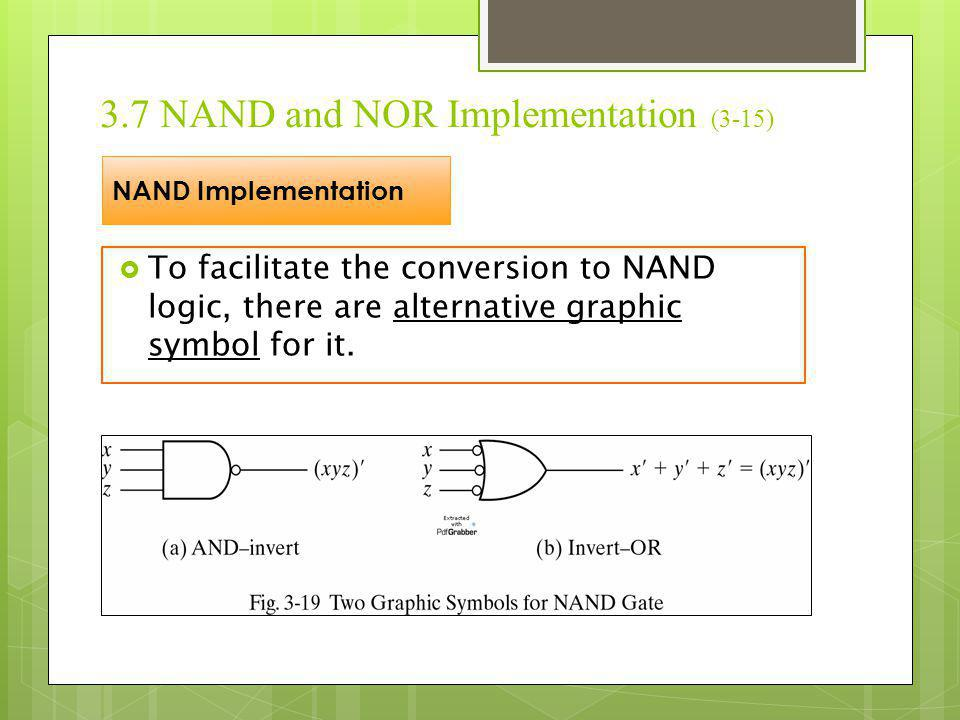 3.7 NAND and NOR Implementation (3-15)