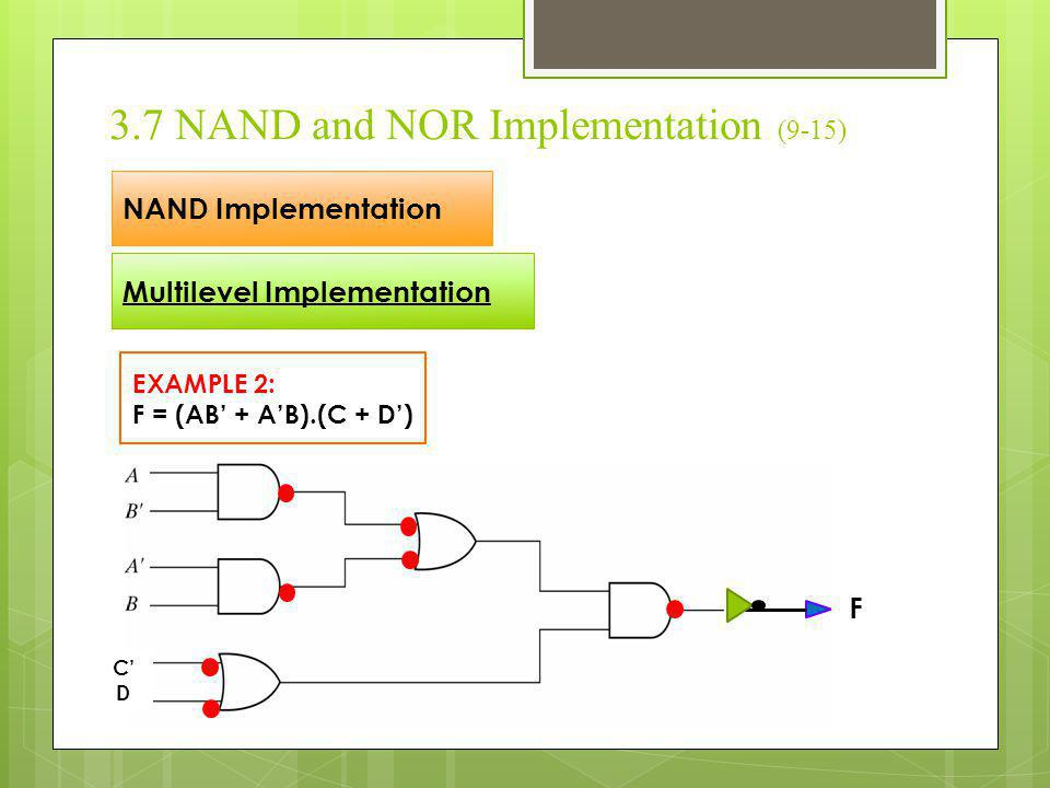 3.7 NAND and NOR Implementation (9-15)