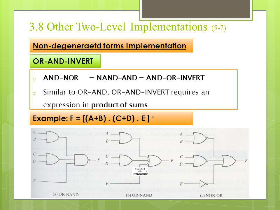 3.8 Other Two-Level Implementations (5-7)