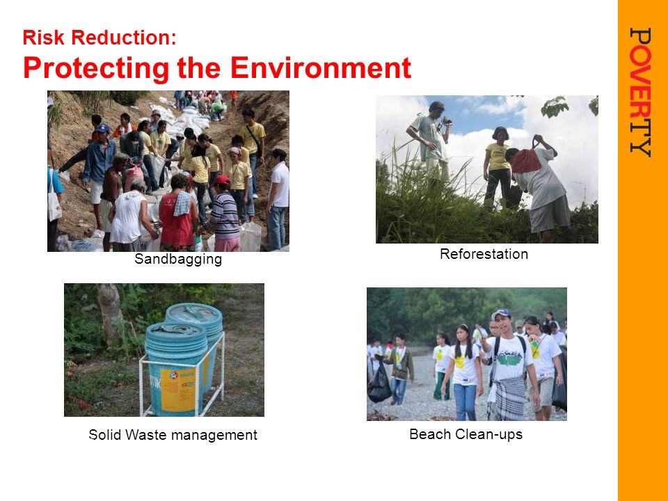 Risk Reduction: Protecting the Environment