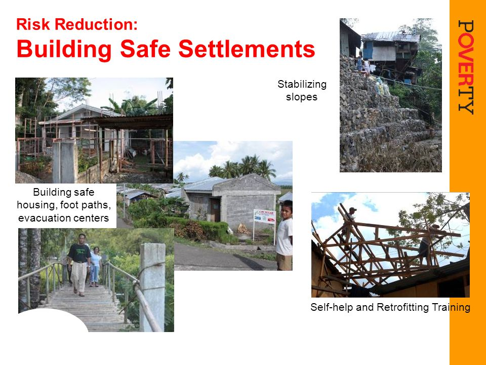 Risk Reduction: Building Safe Settlements