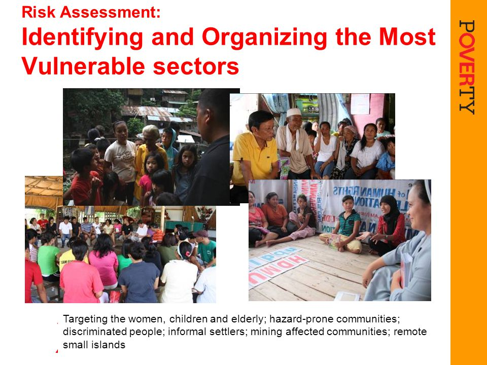 Risk Assessment: Identifying and Organizing the Most Vulnerable sectors