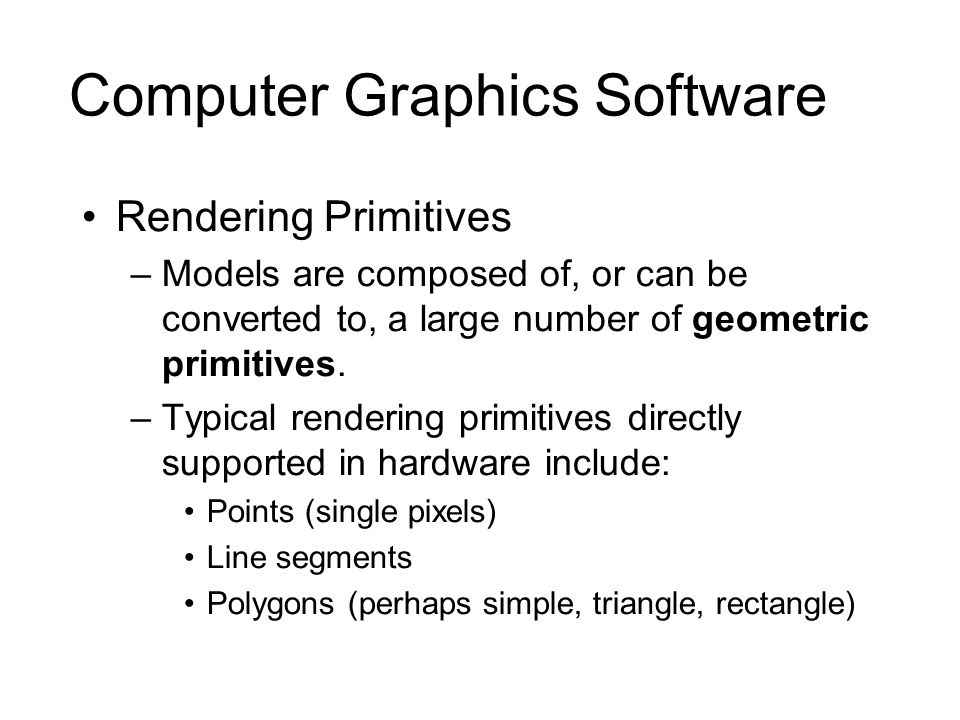 Computer Graphics Software