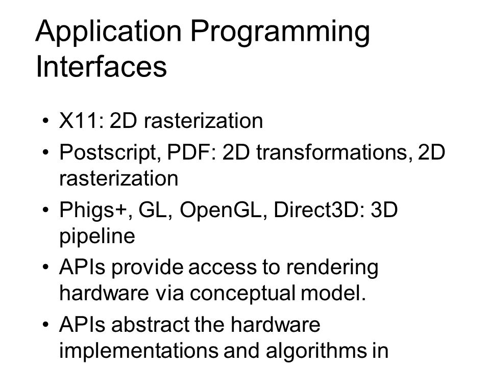 Application Programming Interfaces