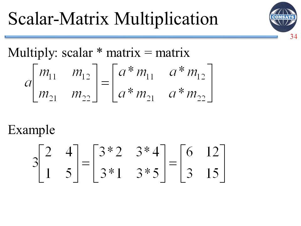 Scalar-Matrix Multiplication