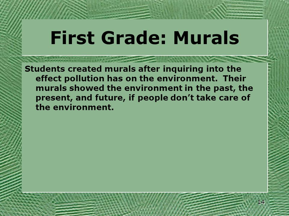 First Grade: Murals