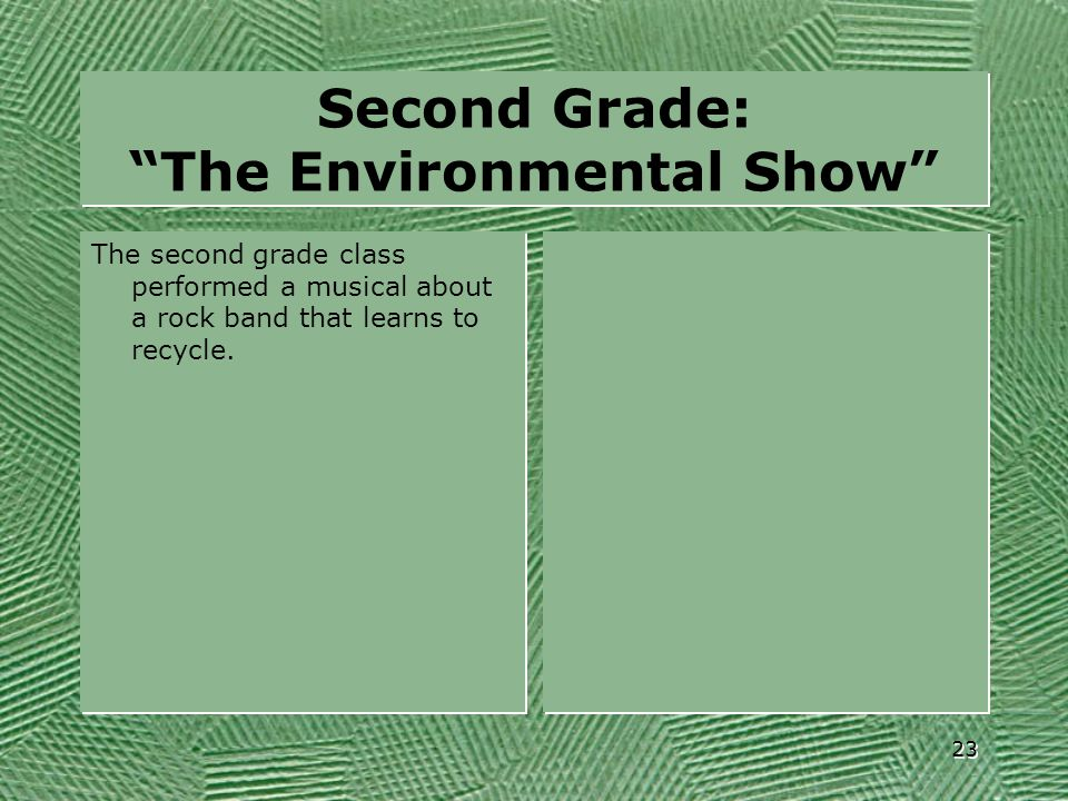 Second Grade: The Environmental Show