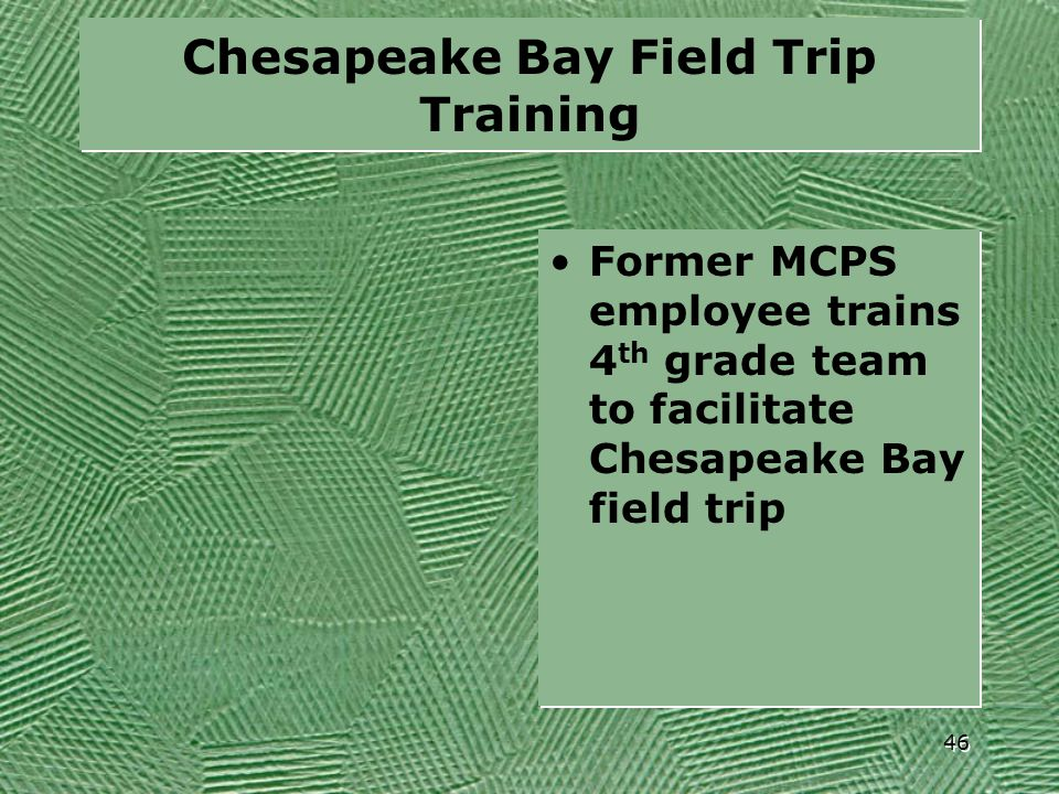 Chesapeake Bay Field Trip Training