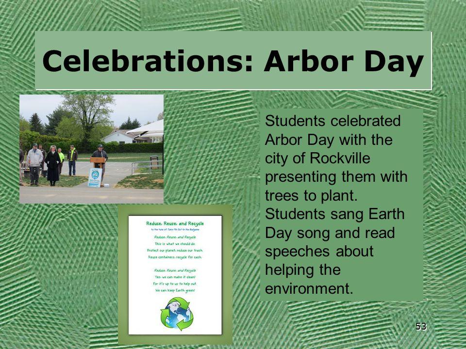 Celebrations: Arbor Day
