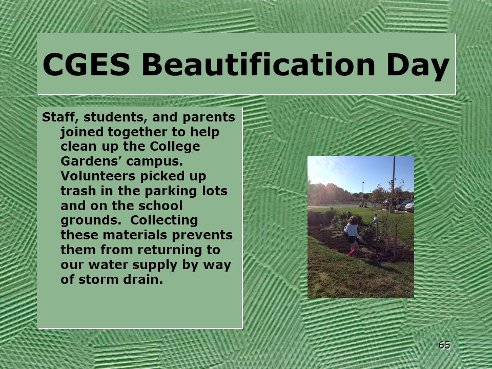 CGES Beautification Day