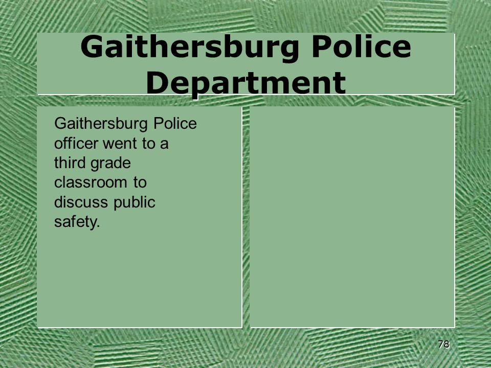 Gaithersburg Police Department