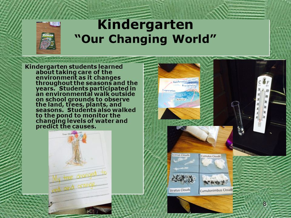 Kindergarten Our Changing World