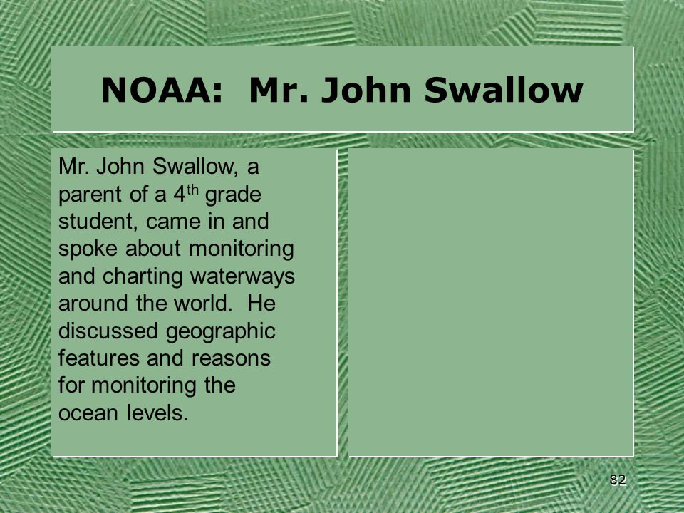 NOAA: Mr. John Swallow