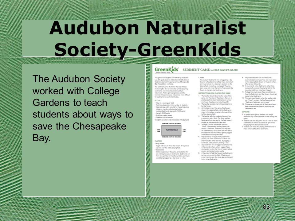 Audubon Naturalist Society-GreenKids