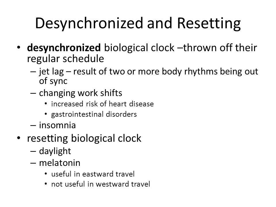 Desynchronized and Resetting