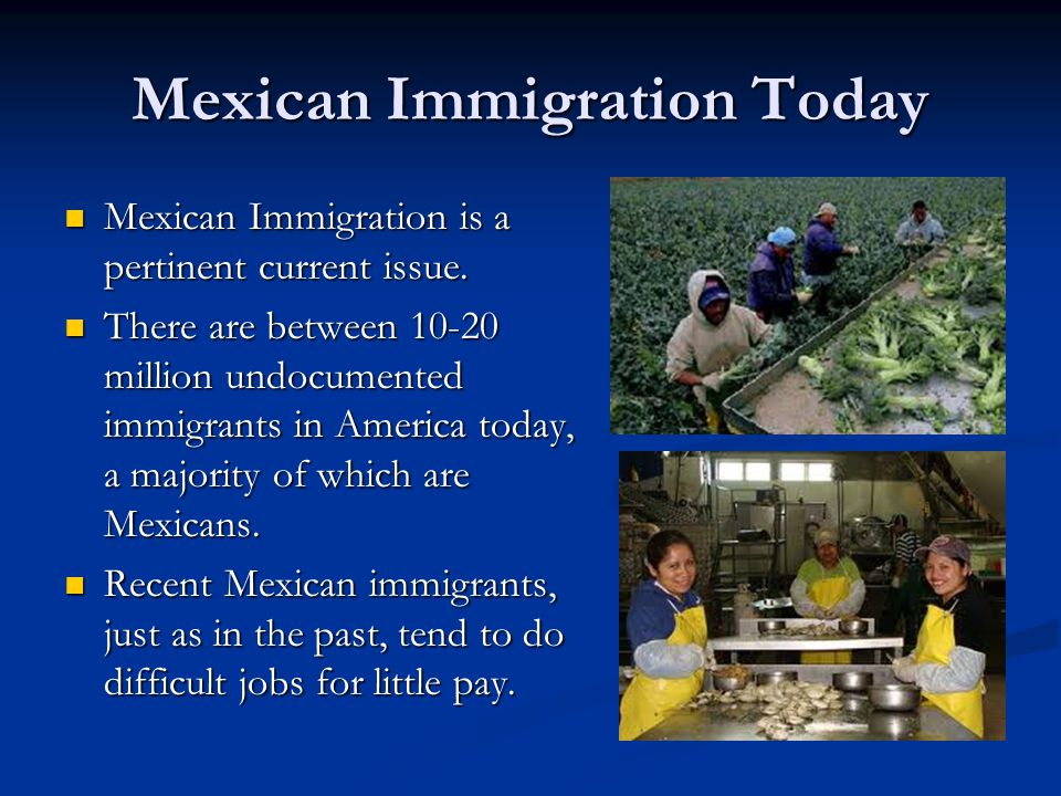 Mexican Immigration Today