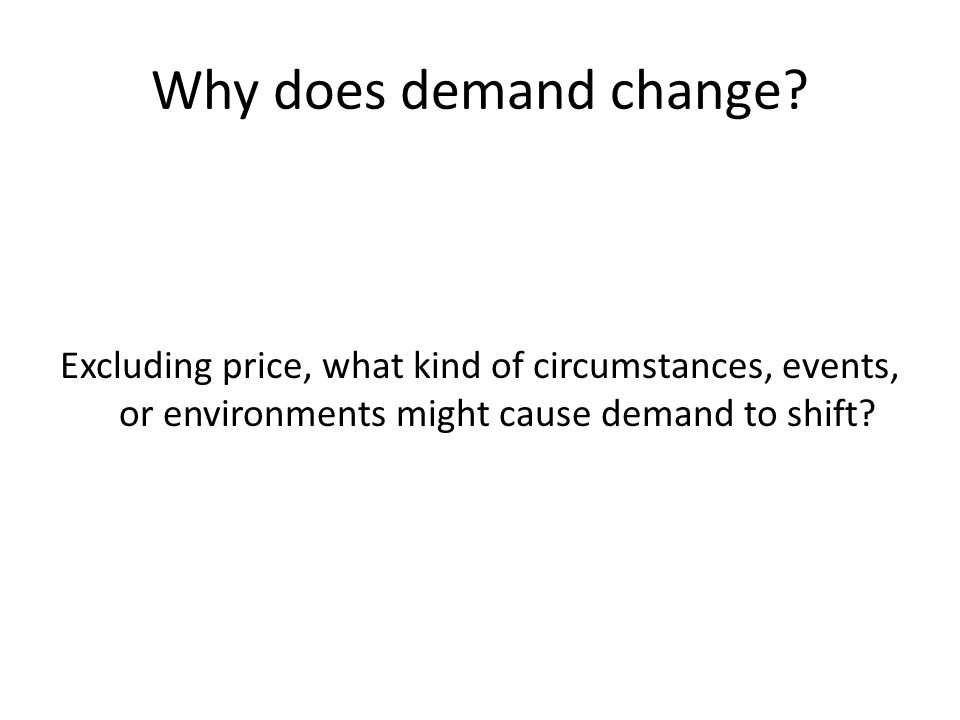 Why does demand change.