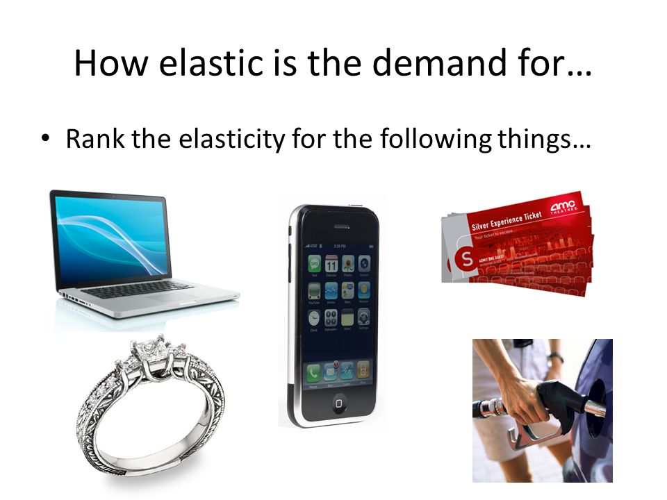 How elastic is the demand for…