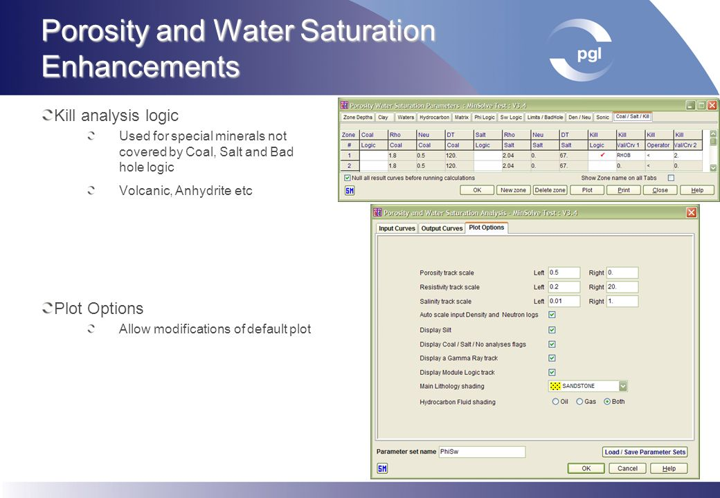 Porosity and Water Saturation Enhancements