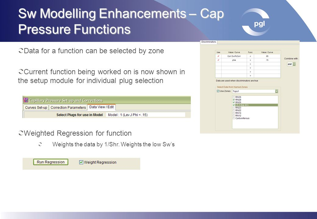 Sw Modelling Enhancements – Cap Pressure Functions