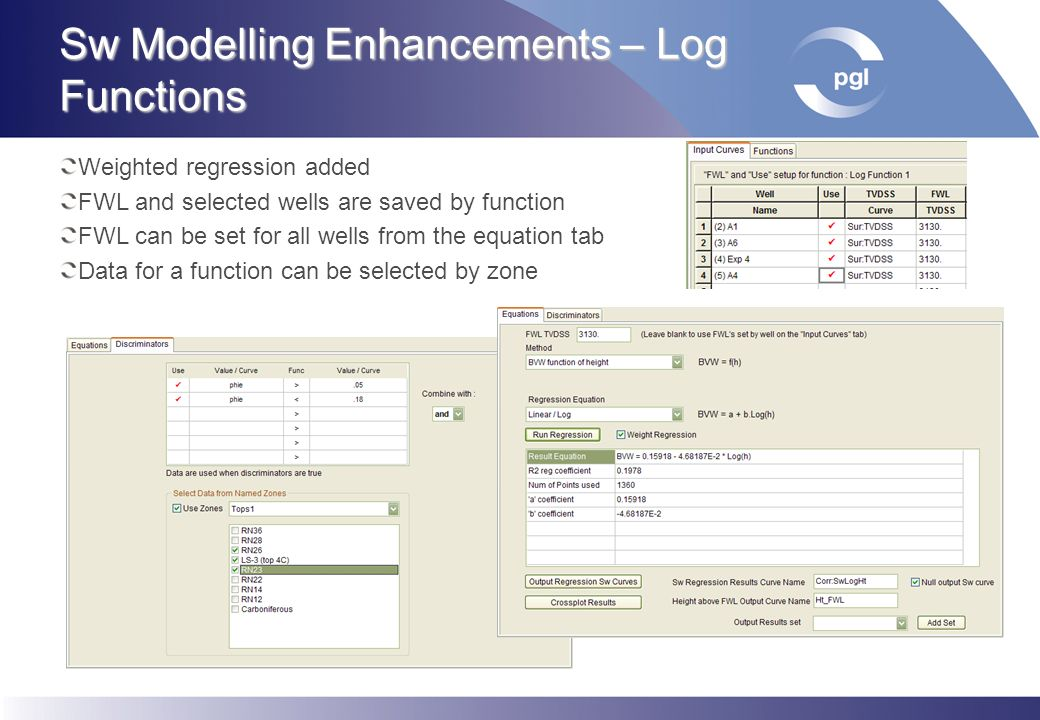 Sw Modelling Enhancements – Log Functions