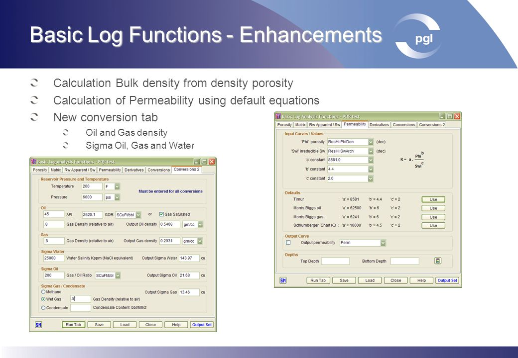 Basic Log Functions - Enhancements