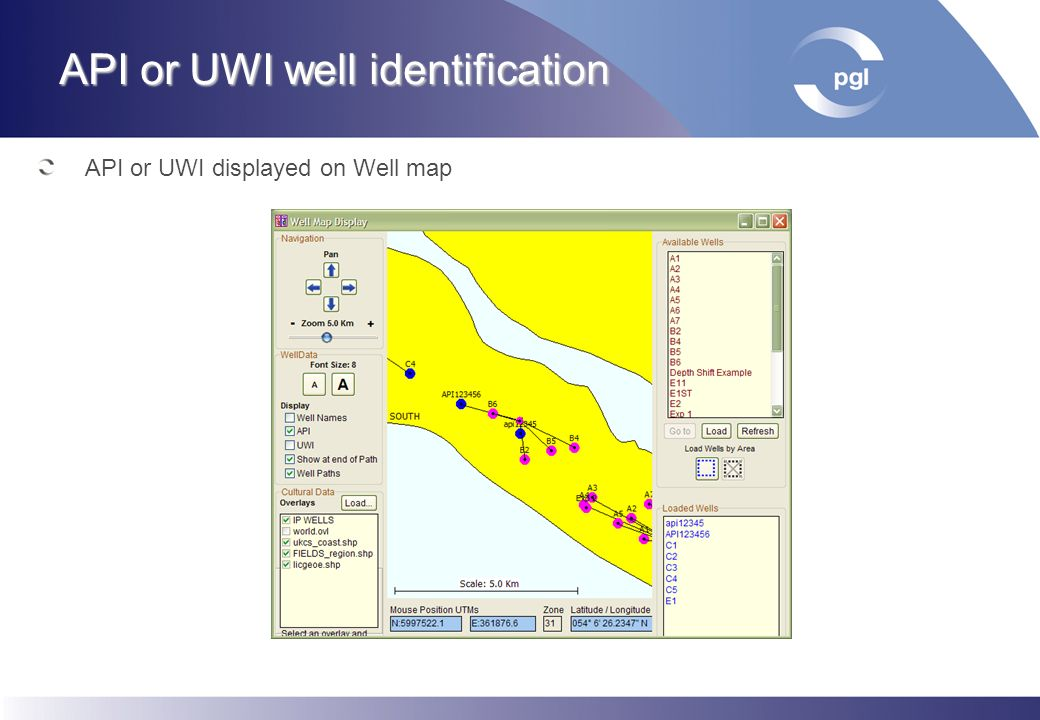API or UWI well identification