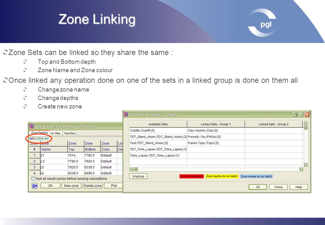 Zone Linking Zone Sets can be linked so they share the same :