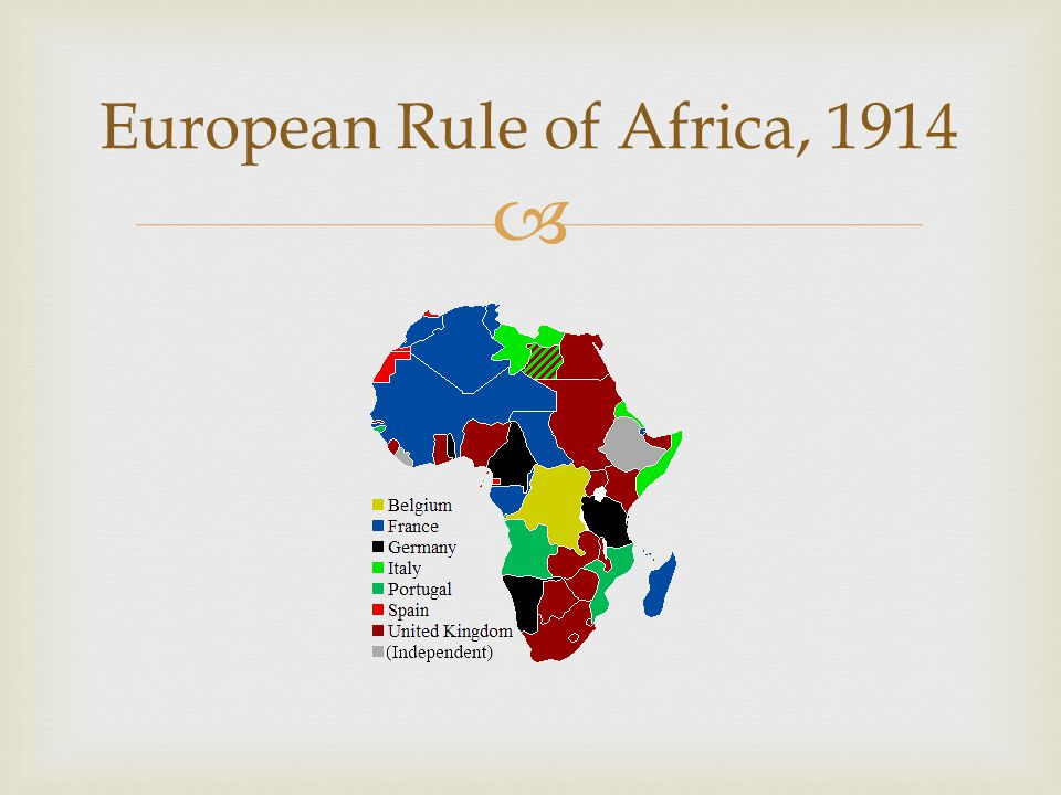 European Rule of Africa, 1914
