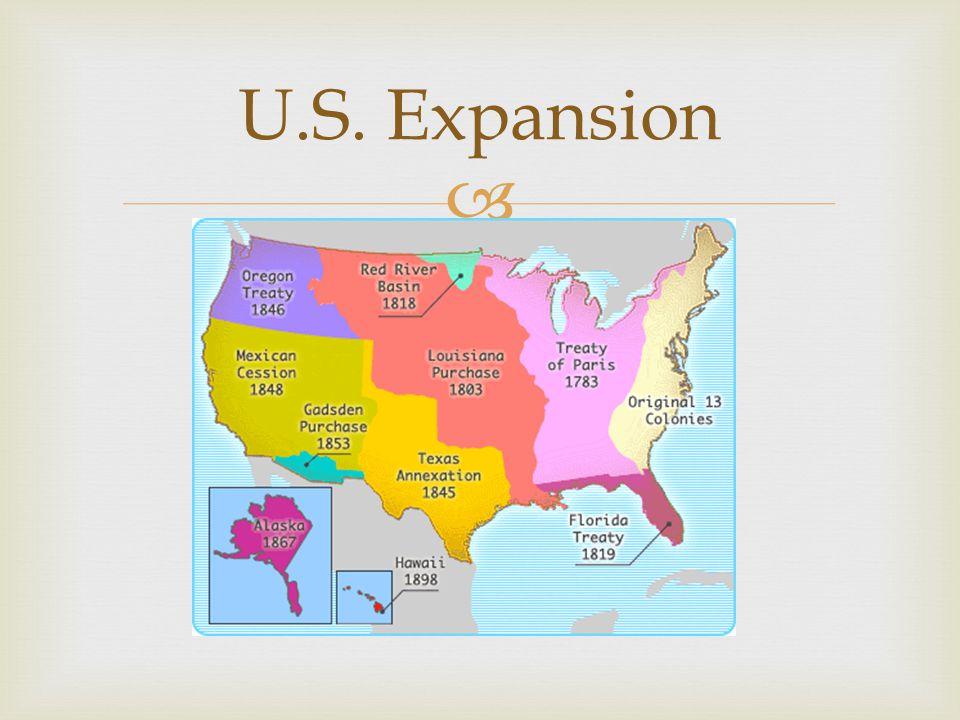U.S. Expansion