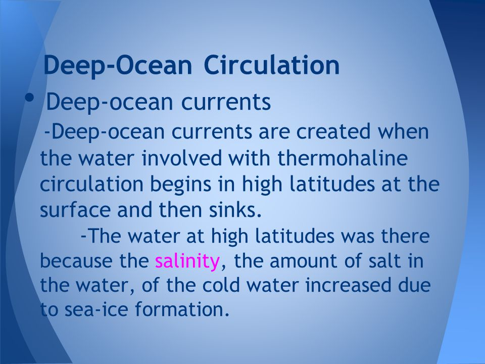 Deep-Ocean Circulation
