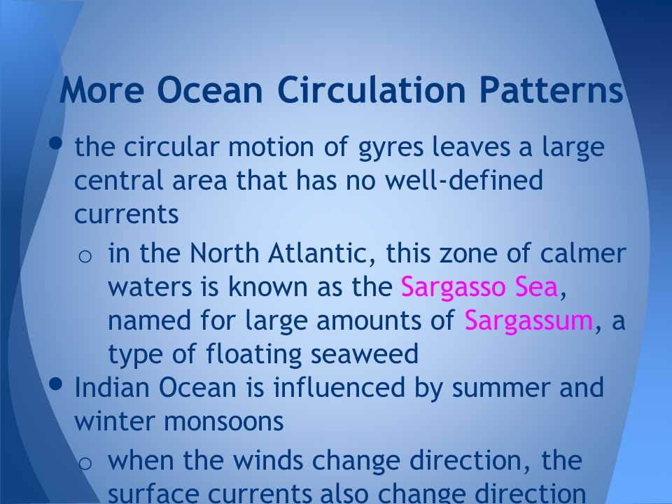 More Ocean Circulation Patterns