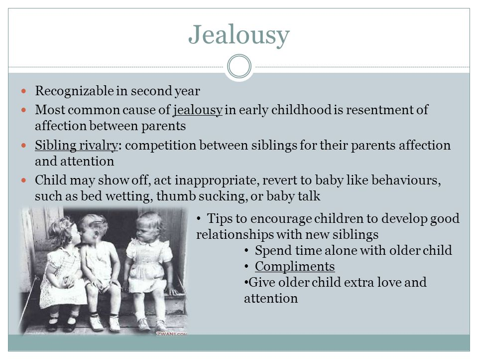 Jealousy Recognizable in second year