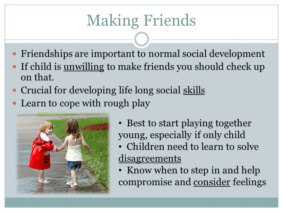 how to help an only child make friends