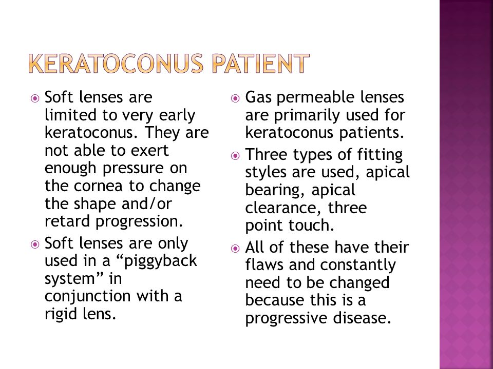 Keratoconus patient