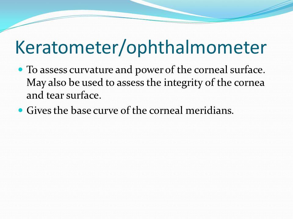 Keratometer/ophthalmometer