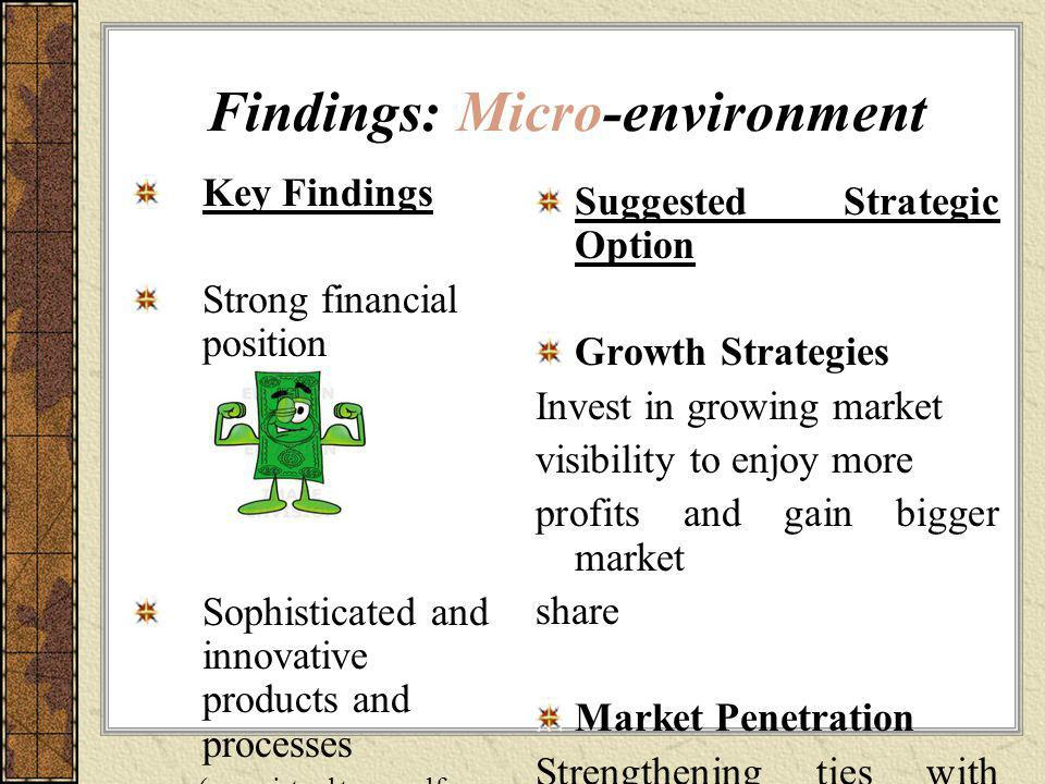 Findings: Micro-environment