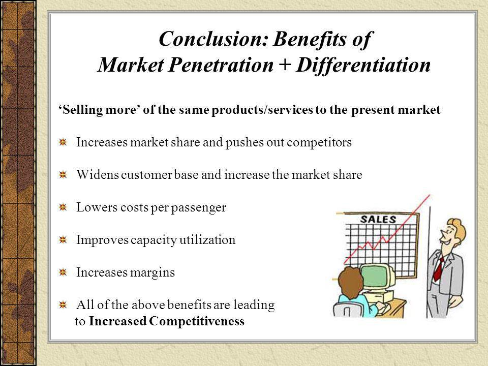 Conclusion: Benefits of Market Penetration + Differentiation