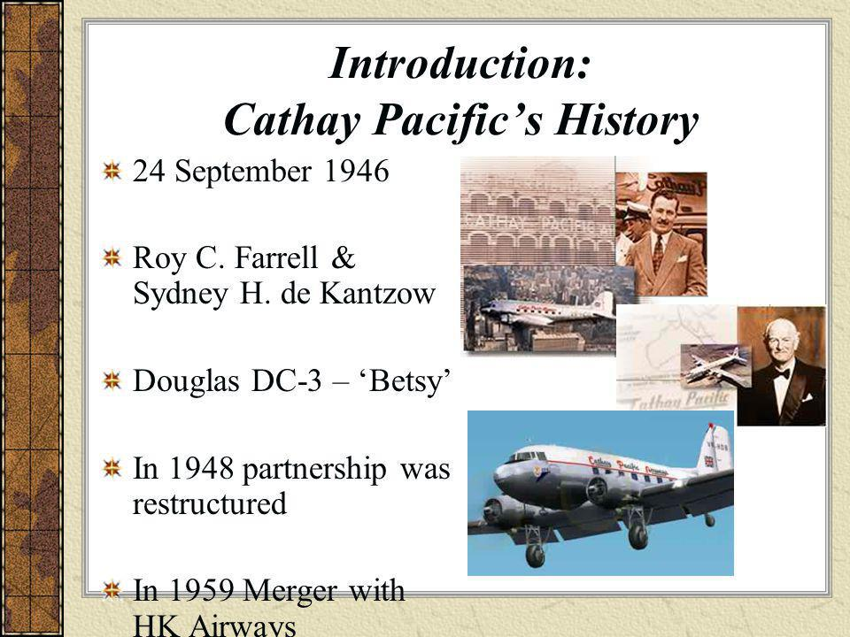 Introduction: Cathay Pacific's History
