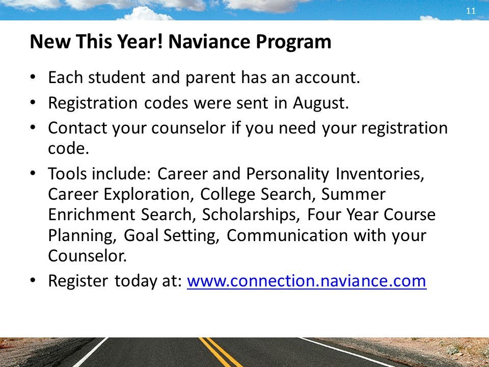 New This Year! Naviance Program