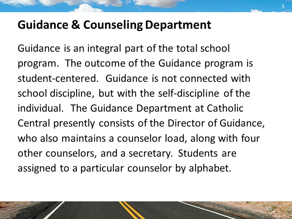 Guidance & Counseling Department